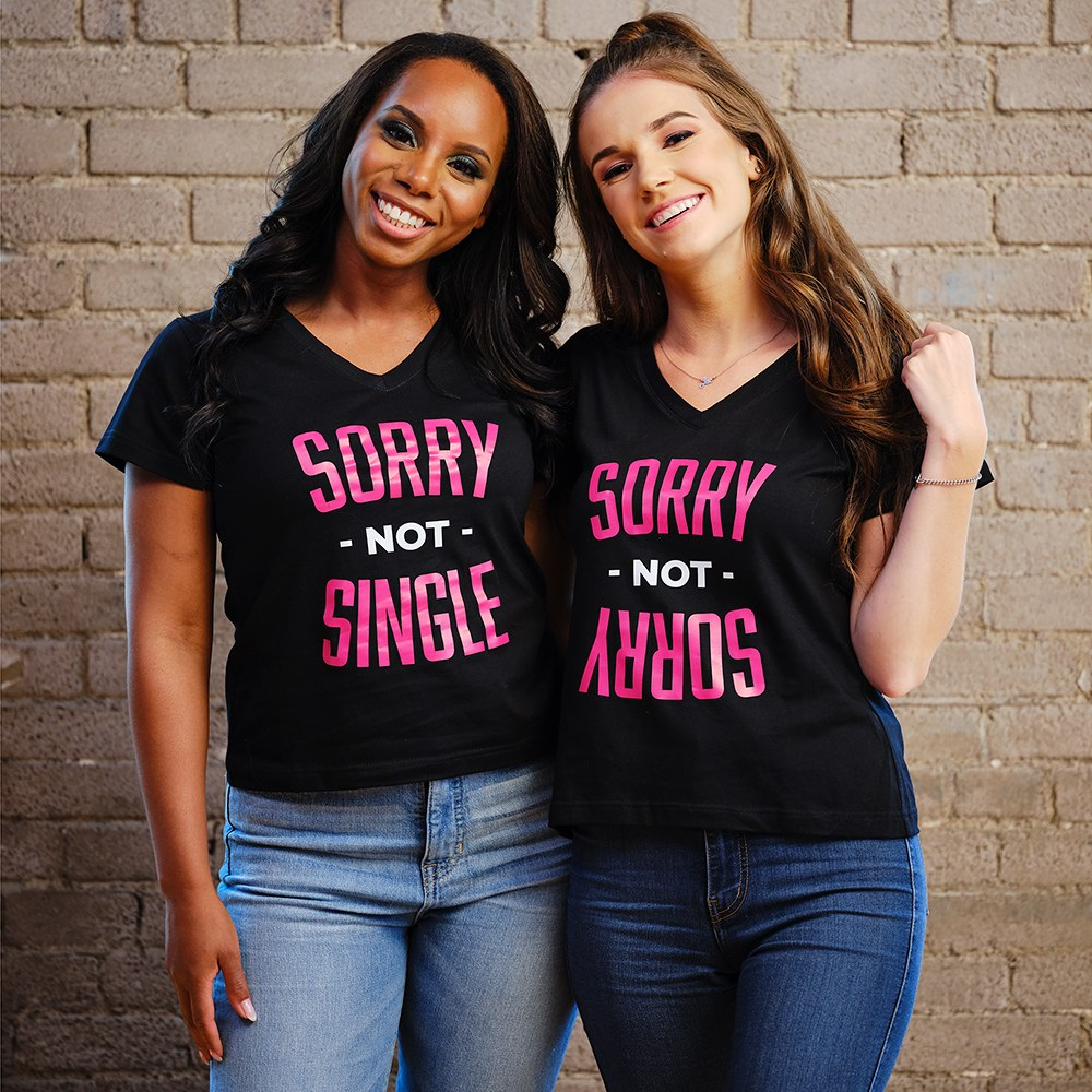 Personalized Bridal Party Wedding T-Shirt - Sorry Not Single