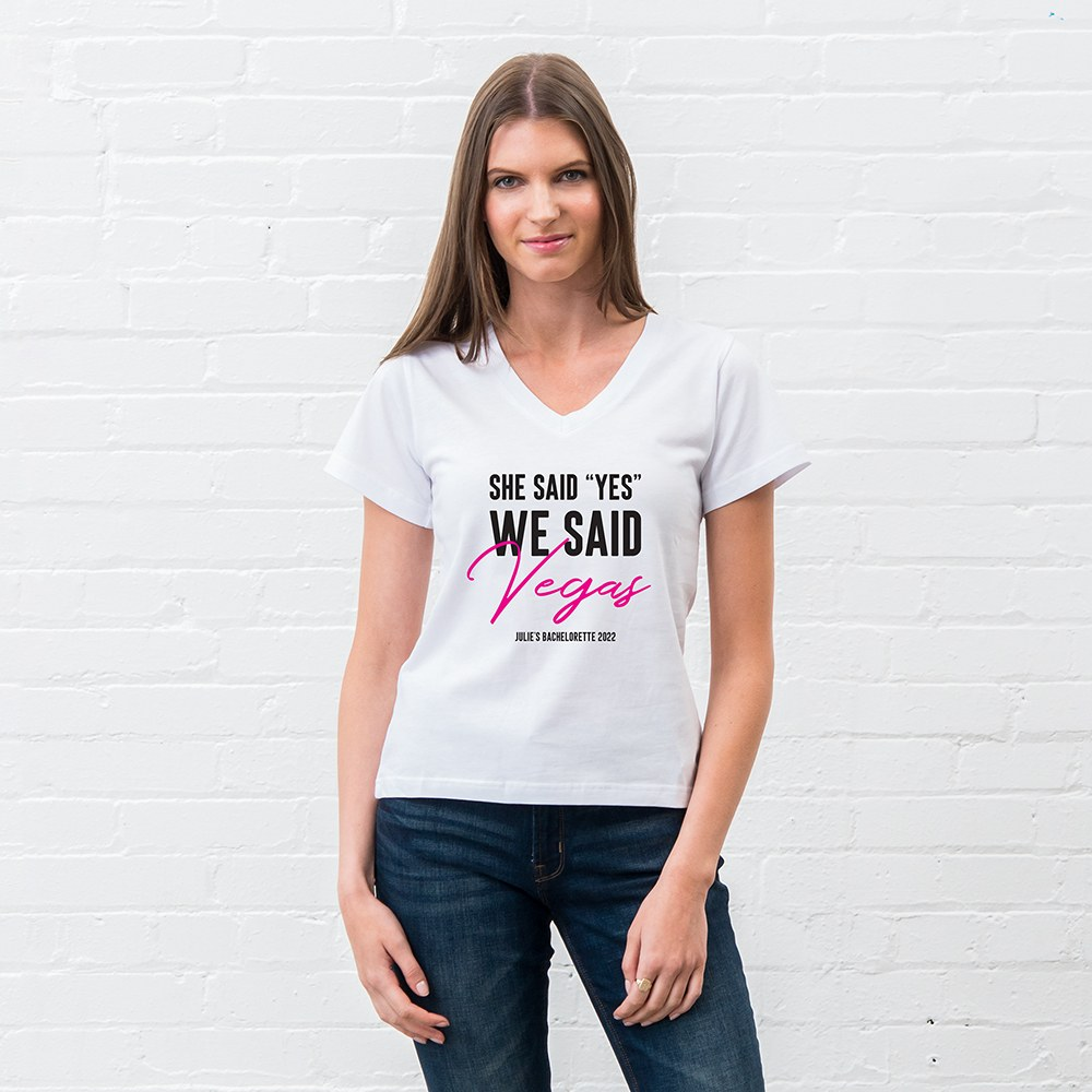 Personalized Bridal Party Wedding T-Shirt - She Said