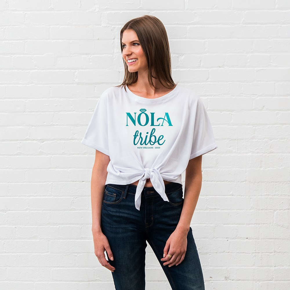 Personalized Bridal Party Tie-Up Wedding Shirt - Nola Tribe