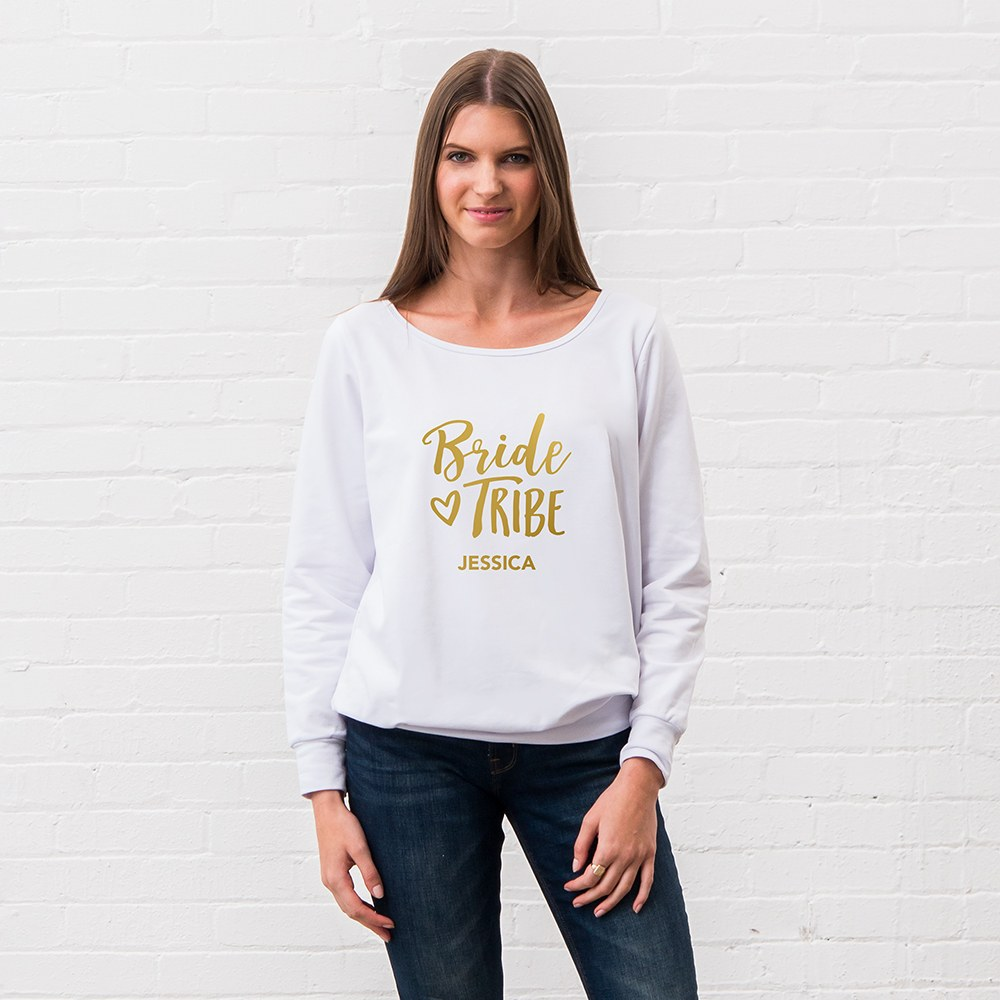 Personalized Bridal Party Wedding Sweater - Bride Tribe