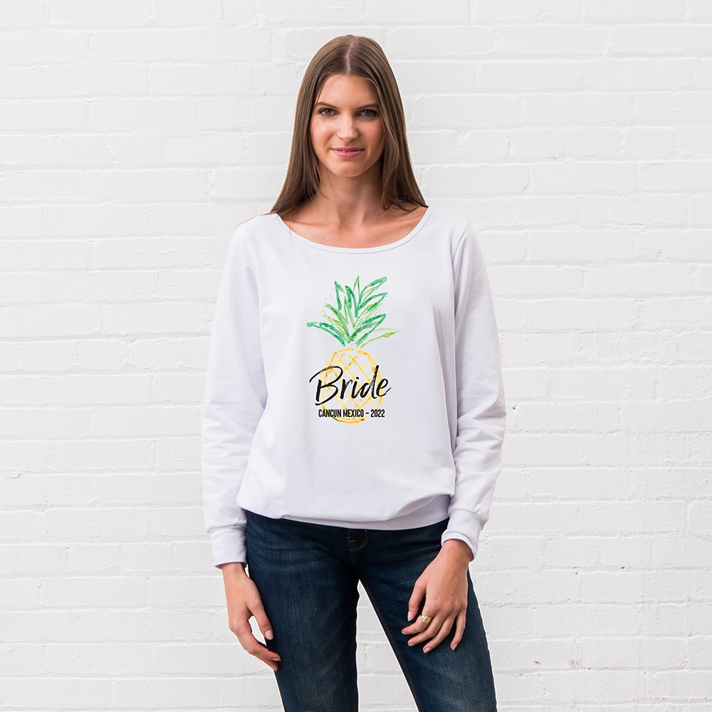 Personalized Bridal Party Wedding Sweater - Tropical Bride
