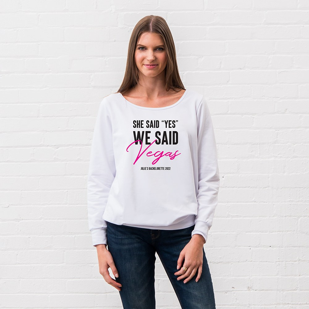 Personalized Bridal Party Wedding Sweater - She Said