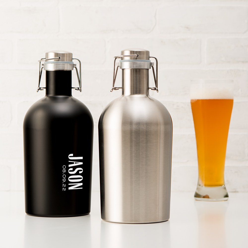 Stainless Steel Flip-Top Beer Growler - Blank