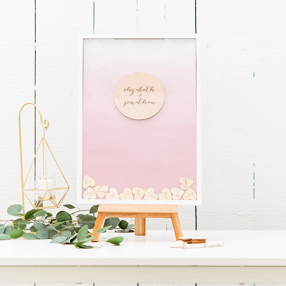 Personalized Drop Box Guest Book - Signature Couple