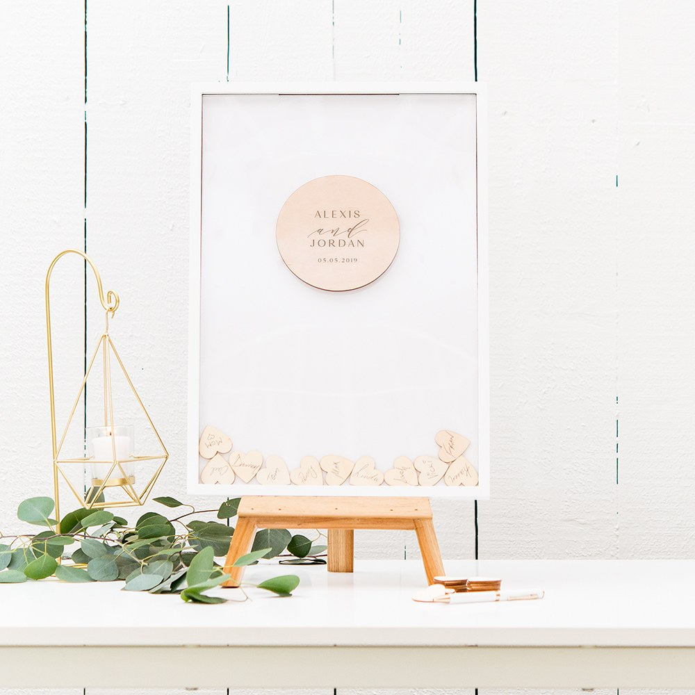 Personalized Drop Box Guest Book - Modern Couple