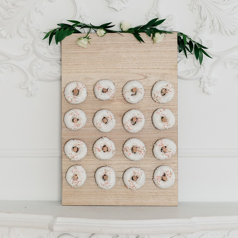 Wooden Donut Wall Display - Blank