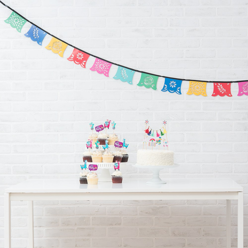Colorful Paper Party Pennant Banner - Fiesta Party