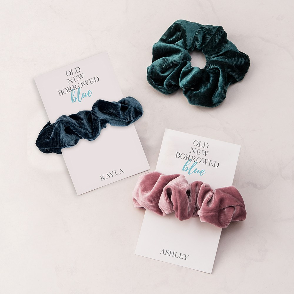 Women's Cute Custom Bridal Party Scrunchie - Something Blue