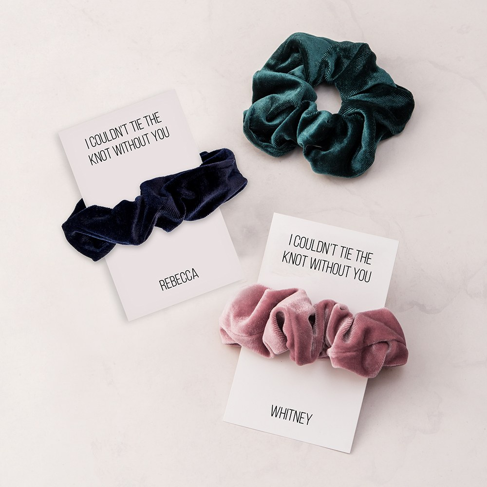 Women's Cute Custom Bridal Party Scrunchie - Couldn't Tie The Knot Without You