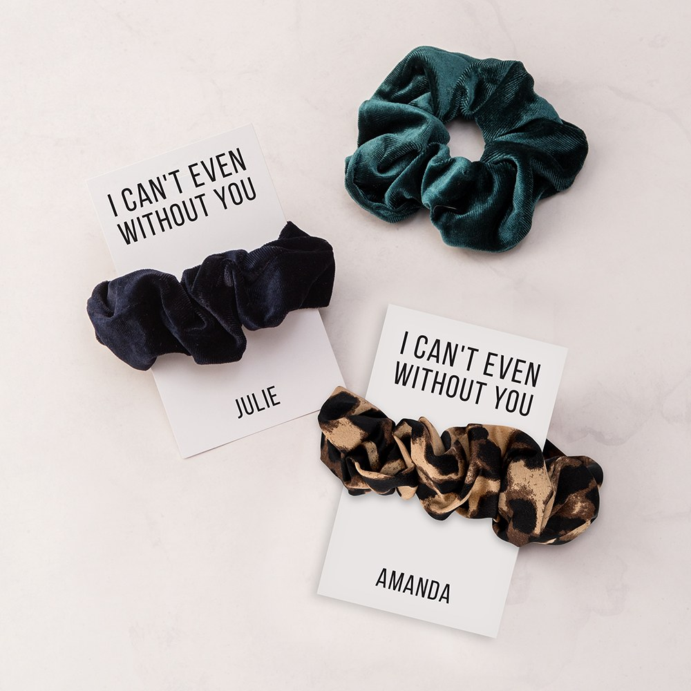 Women's Cute Custom Bridal Party Scrunchie - Can't Even Without You