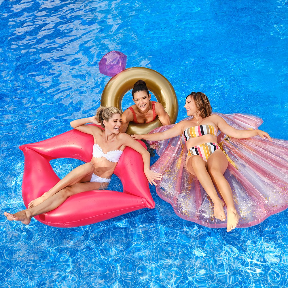 Giant Inflatable Pool Float Toy - Red Lips