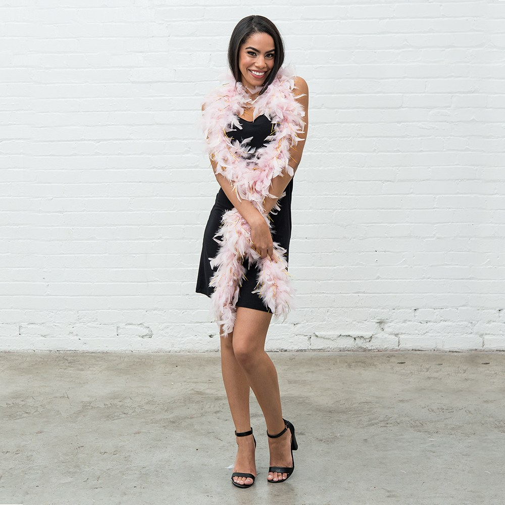 Sparkly Bachelorette Feather Boa - Light Pink