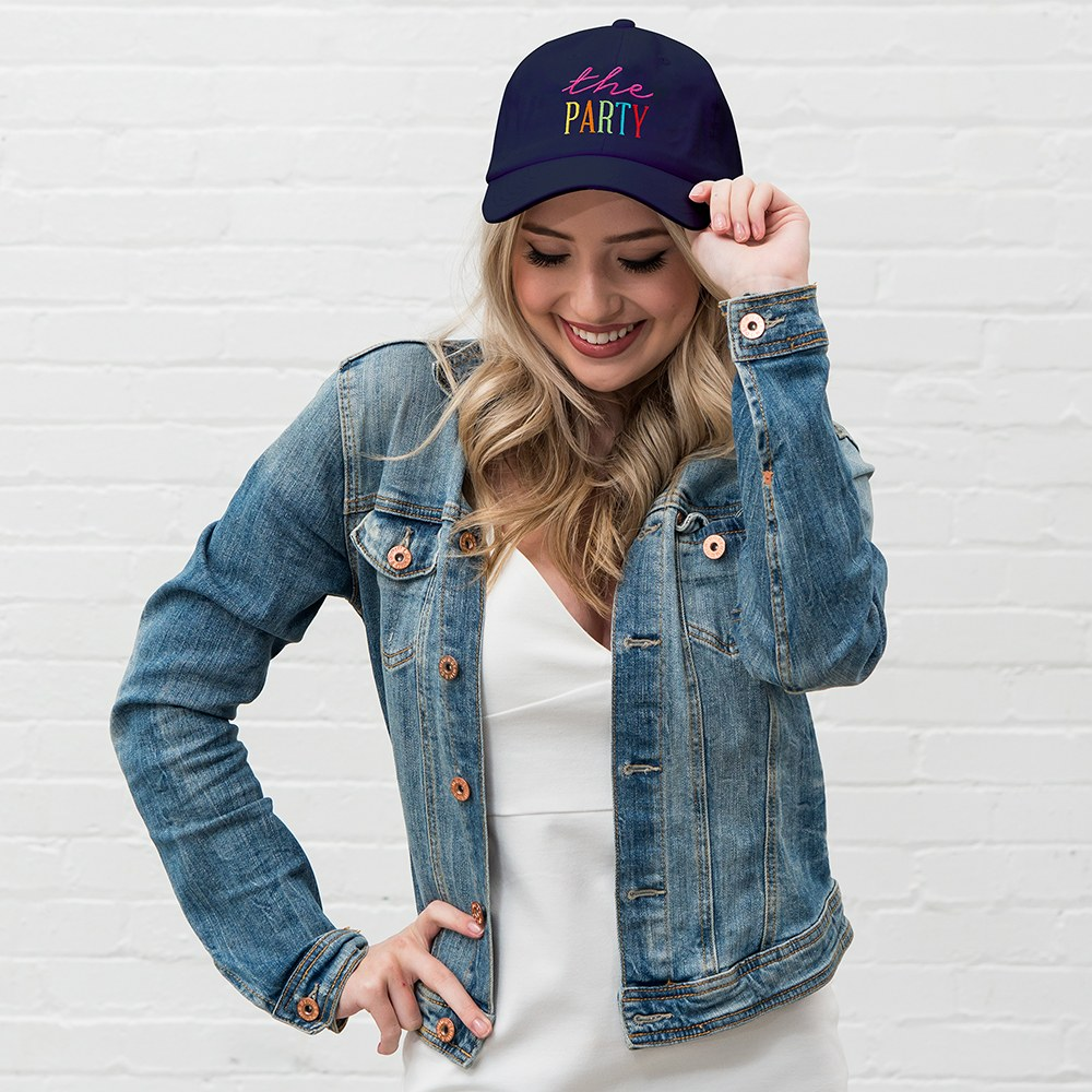 Women's Embroidered Bachelorette Party Dad Hat - The Party