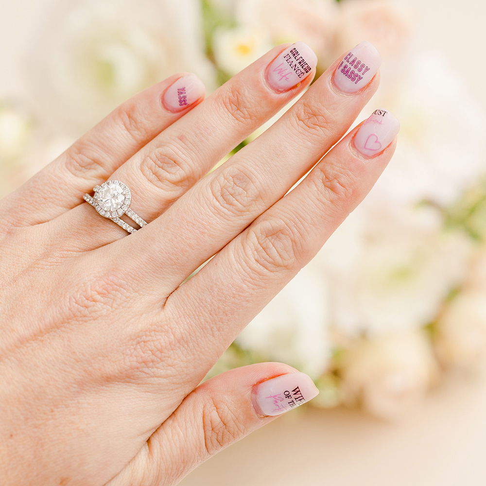 Adhesive Bachelorette Party Nail Stickers - Cool Bride Squad