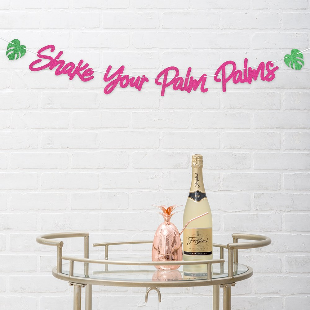 Paper Bachelorette Party Banner - Shake Your Palm Palms
