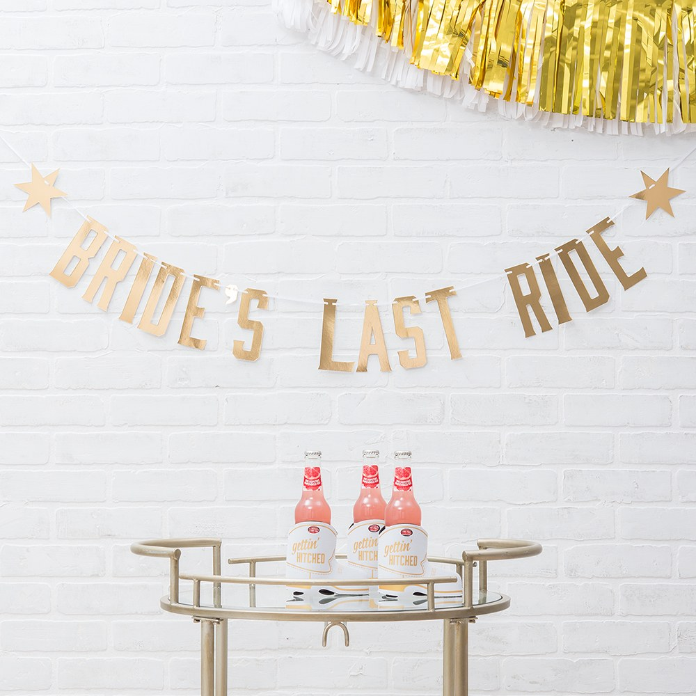 Paper Bachelorette Party Banner - Bride's Last Ride
