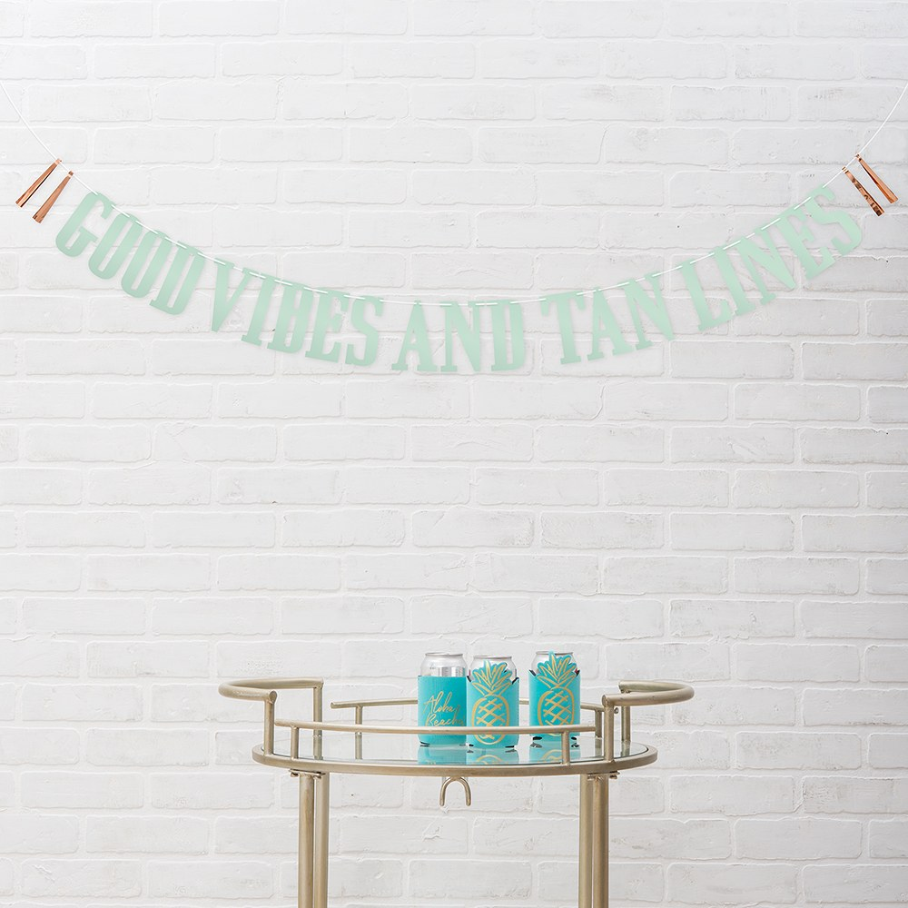 Paper Bachelorette Party Banner - Good Vibes