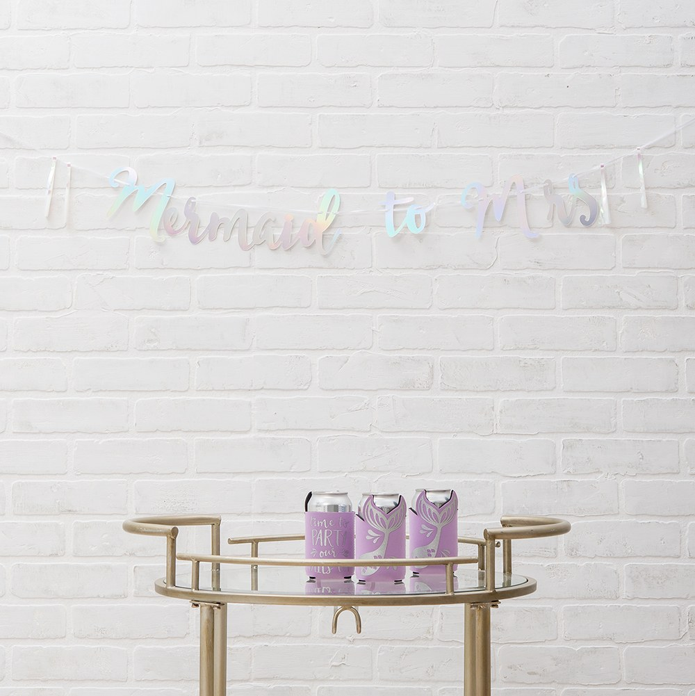 Paper Bachelorette Party Banner - Mermaid to Mrs