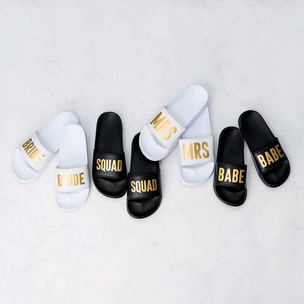 Women's Bridal Party Slide Sandals - Babe