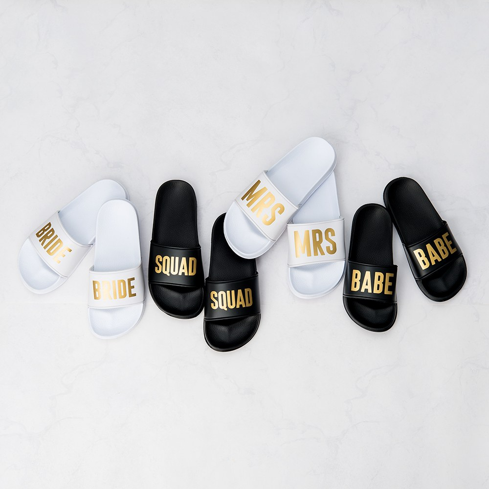 Women's Bridal Party Slide Sandals - Mrs