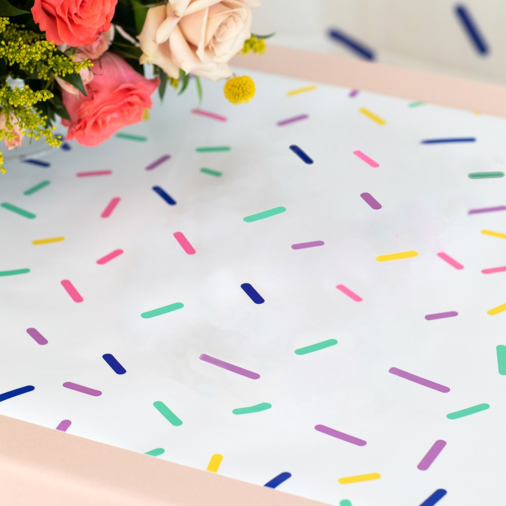 Decorative Paper Table Runner - Sprinkles