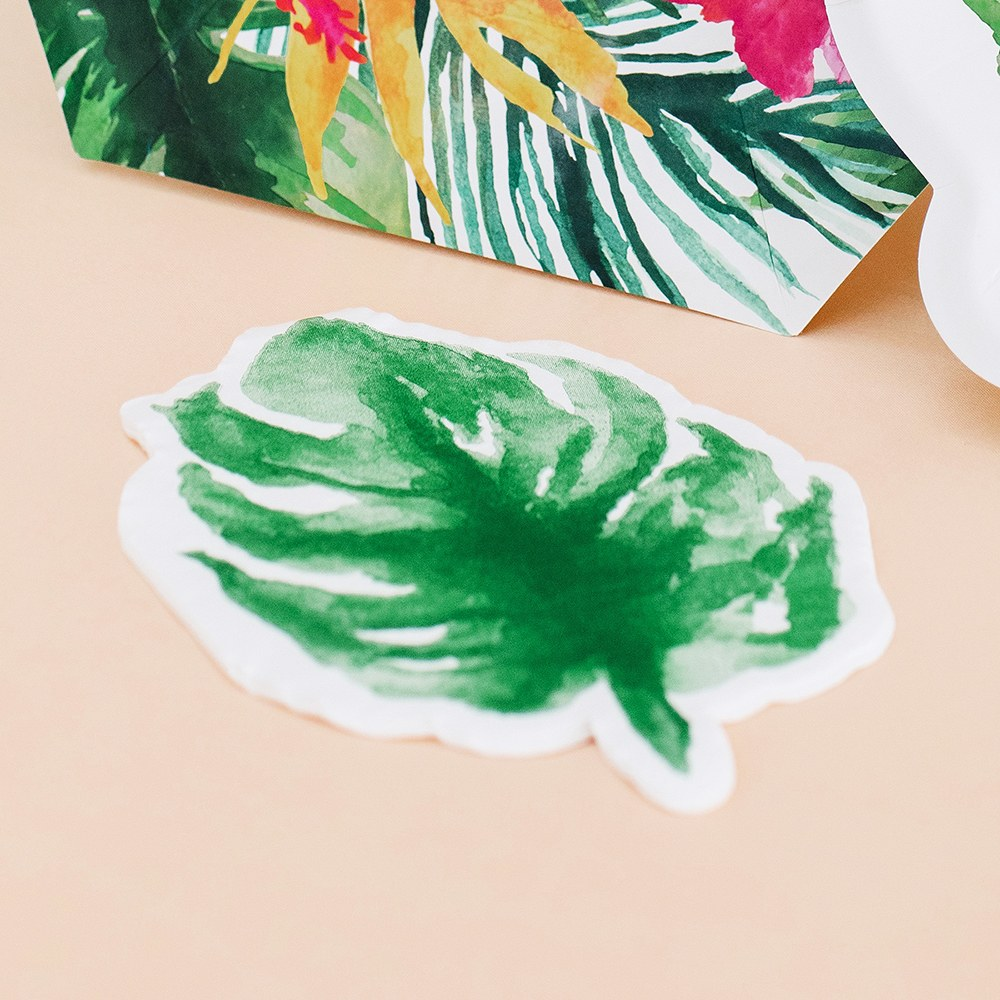 Cute Special Occasion Paper Party Napkins - Monstera Leaf - Set of 20