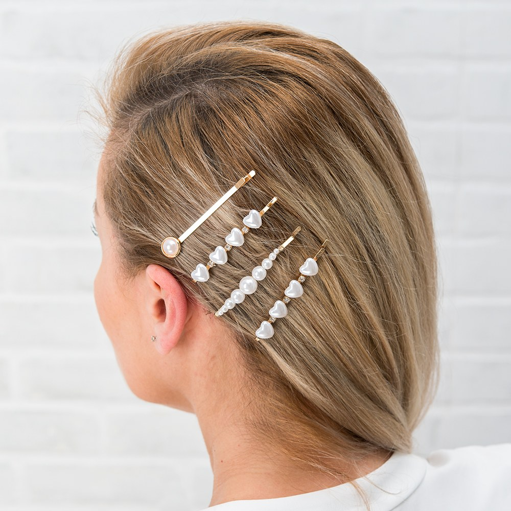 Bridal Party Hair Clips - Pearl