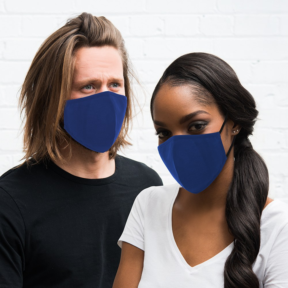 Adult Protective Cloth Face Mask - Royal Blue