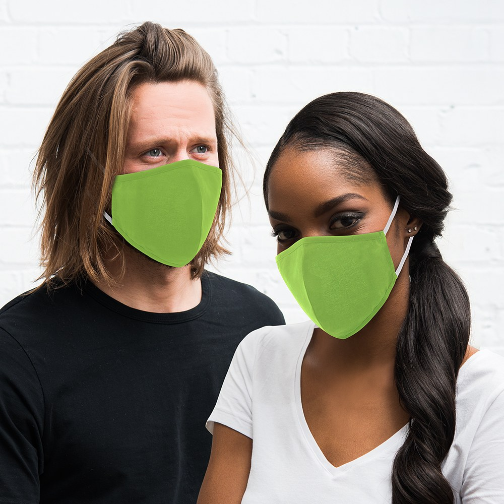 Adult Protective Cloth Face Mask - Bright Green