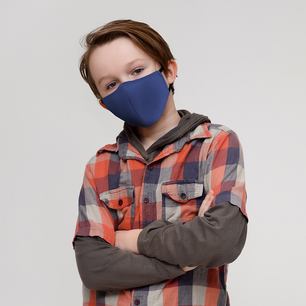 Kid's Protective Cloth Face Mask - Royal Blue