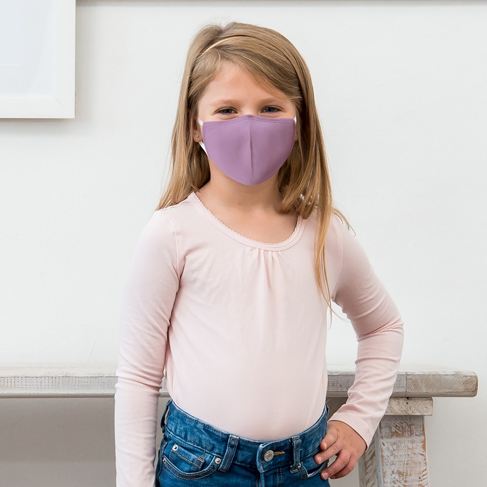 Kid's Protective Cloth Face Mask - Lavender Purple