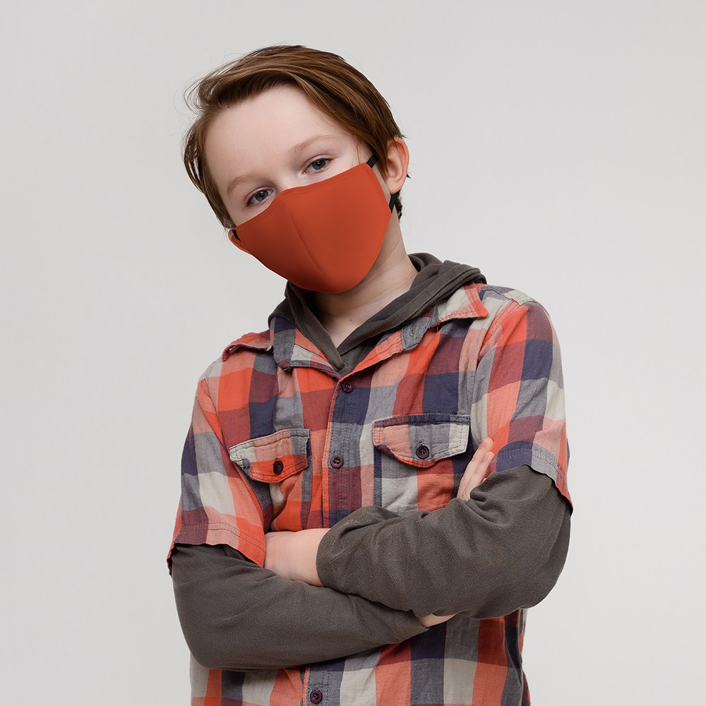 Kid's Protective Cloth Face Mask - Rustic Orange