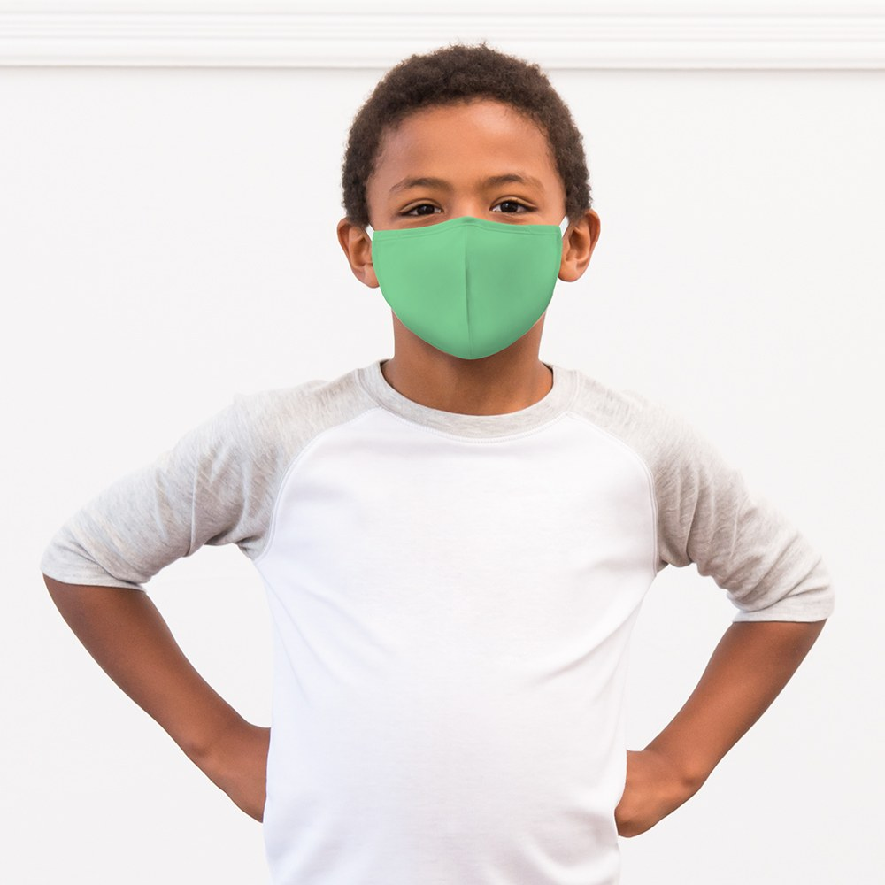 Kid's Protective Cloth Face Mask - Mint Green