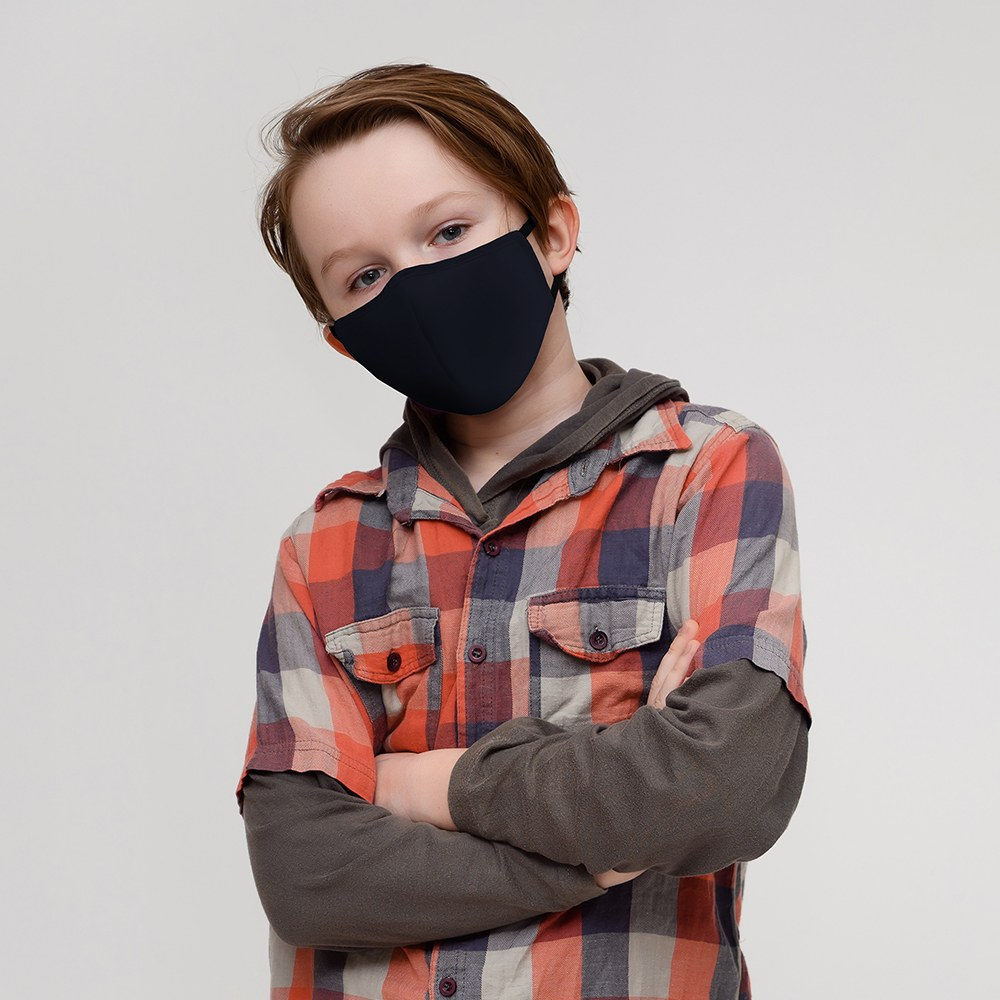 Kid's Protective Cloth Face Mask - Navy