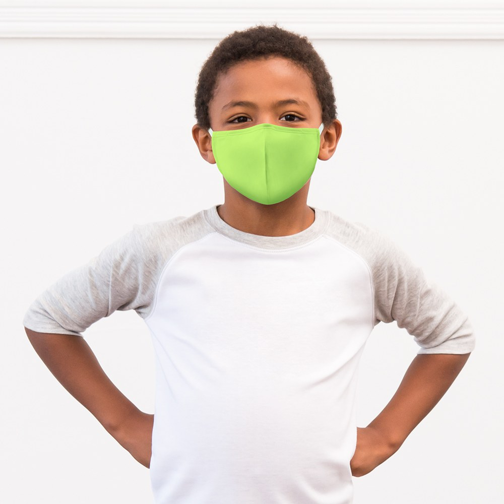 Kid's Protective Cloth Face Mask - Bright Green