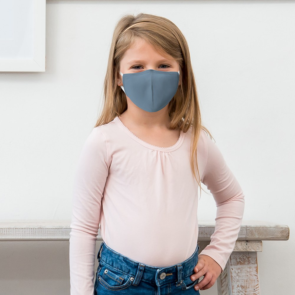 Kid's Protective Cloth Face Mask - Powder Blue