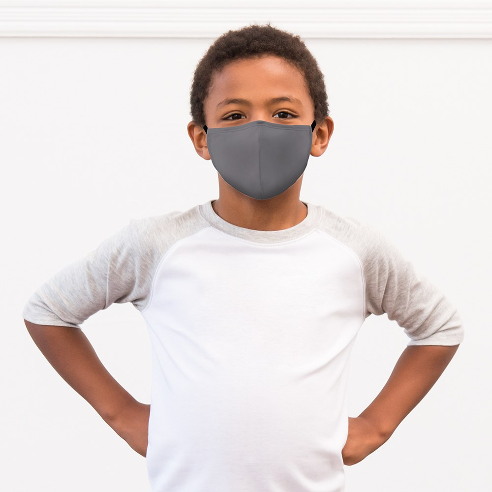 Kid's Protective Cloth Face Mask - Grey