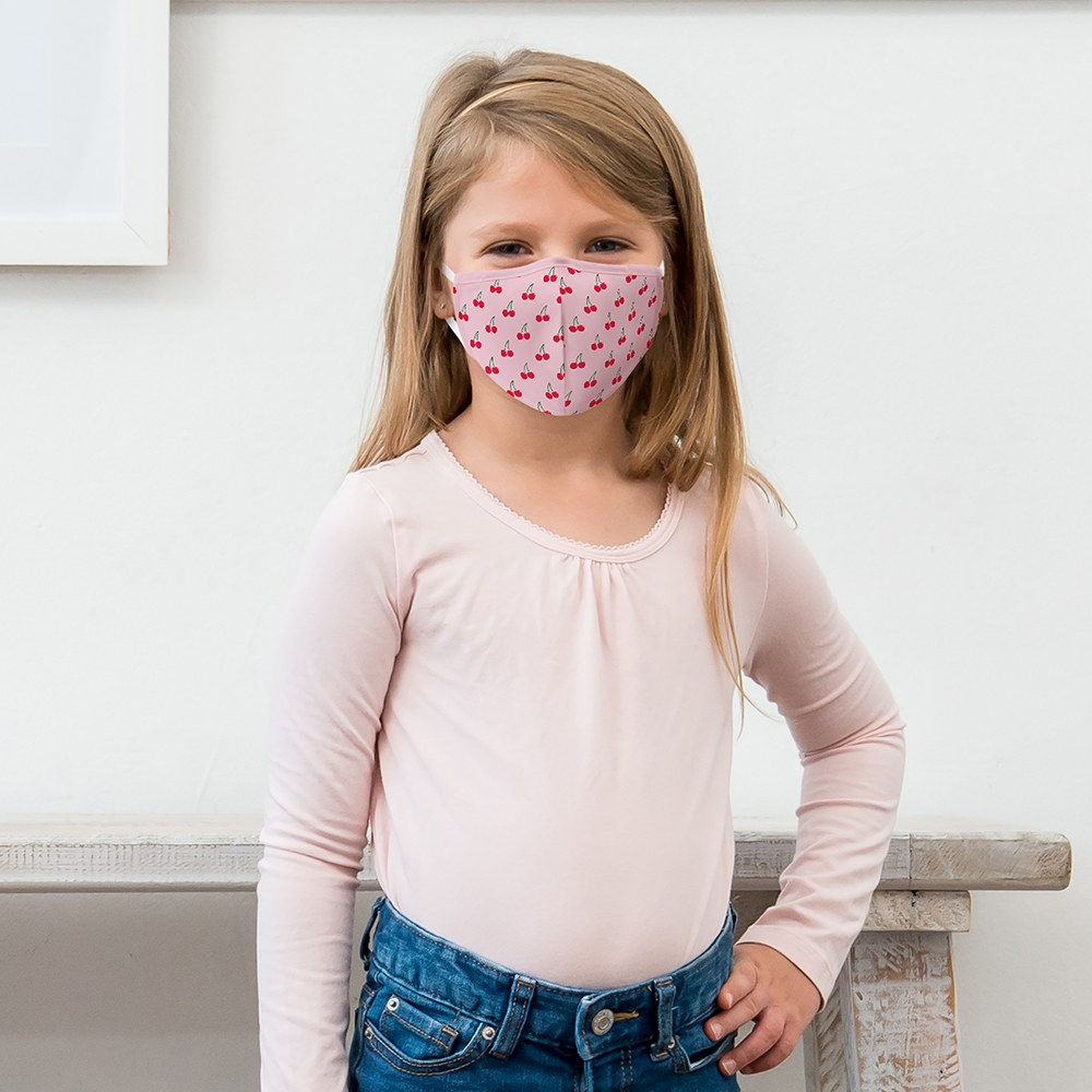 Kid's Protective Cloth Face Mask - Cheery Cherries