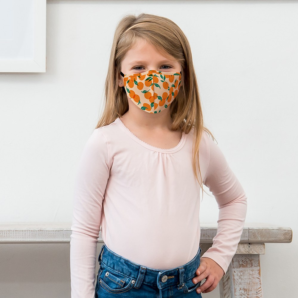 Kid's Protective Cloth Face Mask - Oranges