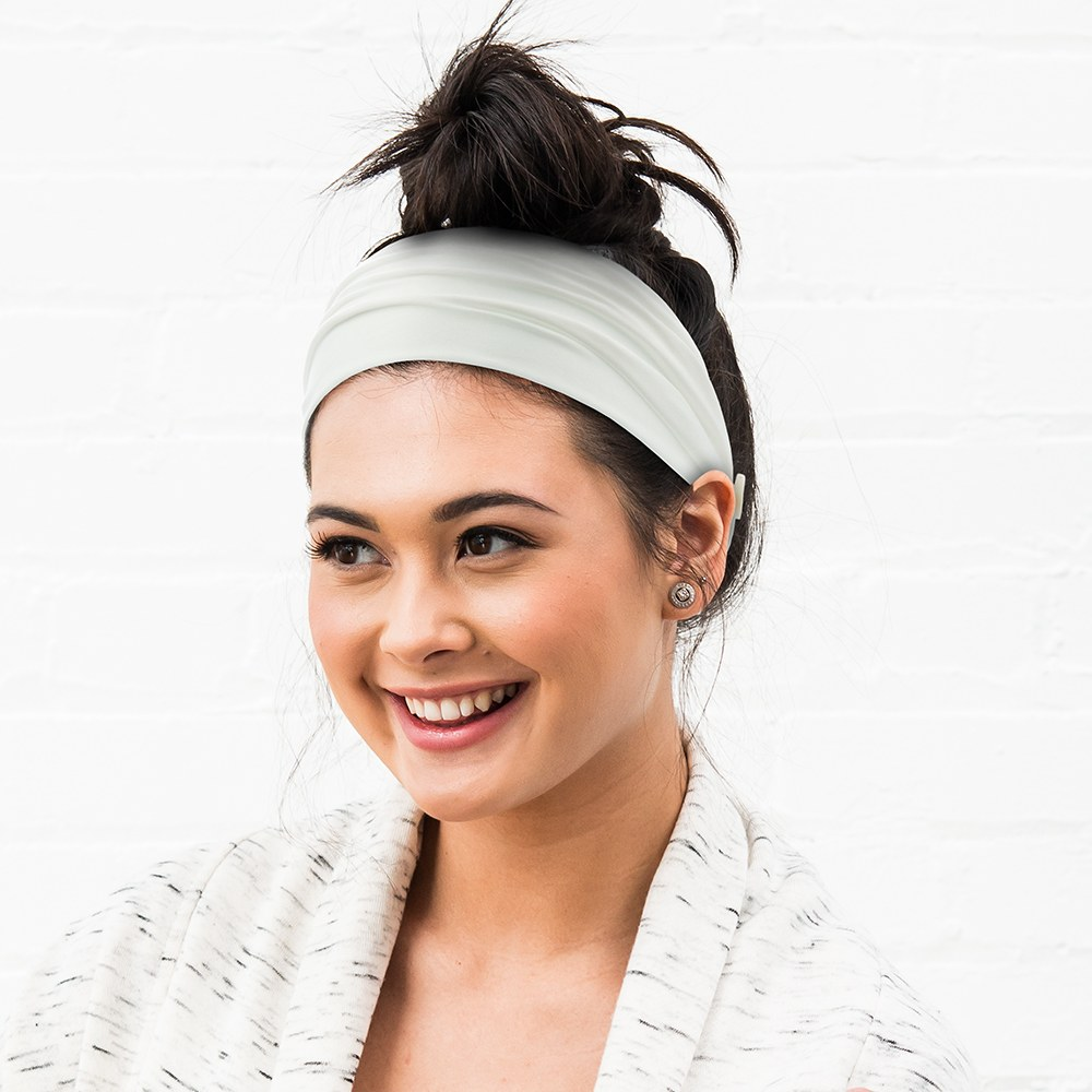 Adult Face Mask Headband Holder - White