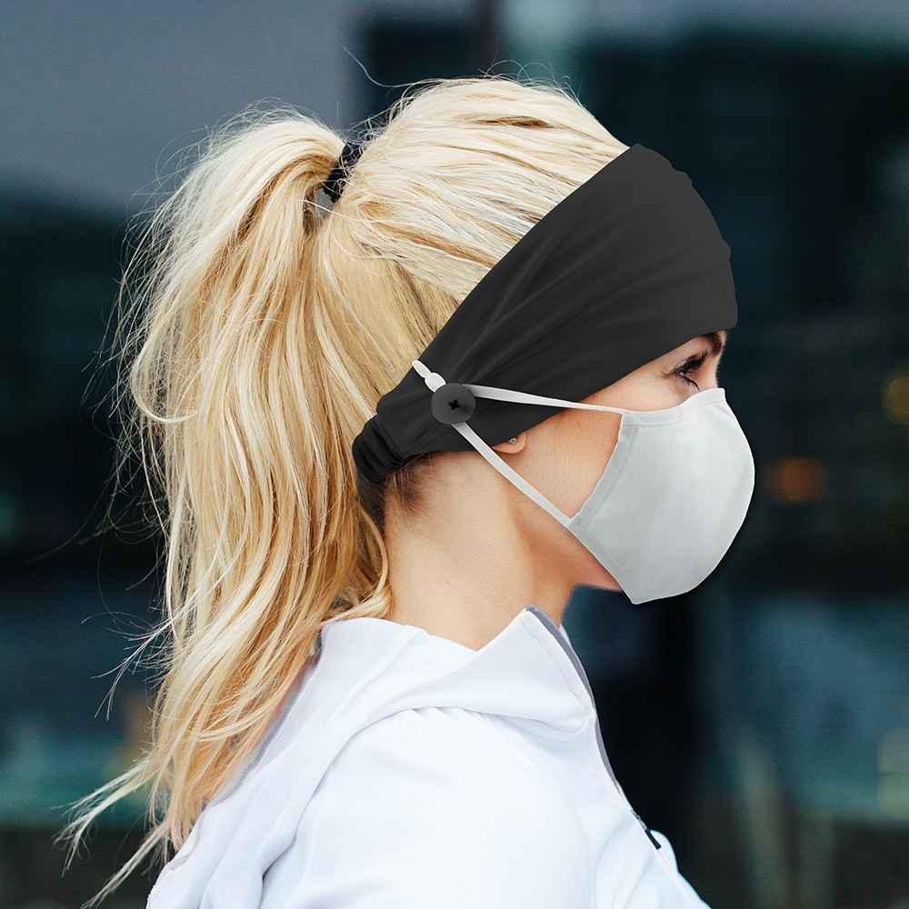 Adult Face Mask Headband Holder - Grey