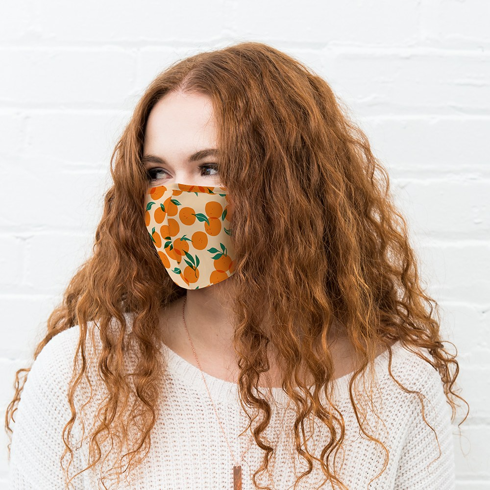 Adult Protective Cloth Face Mask - Orange