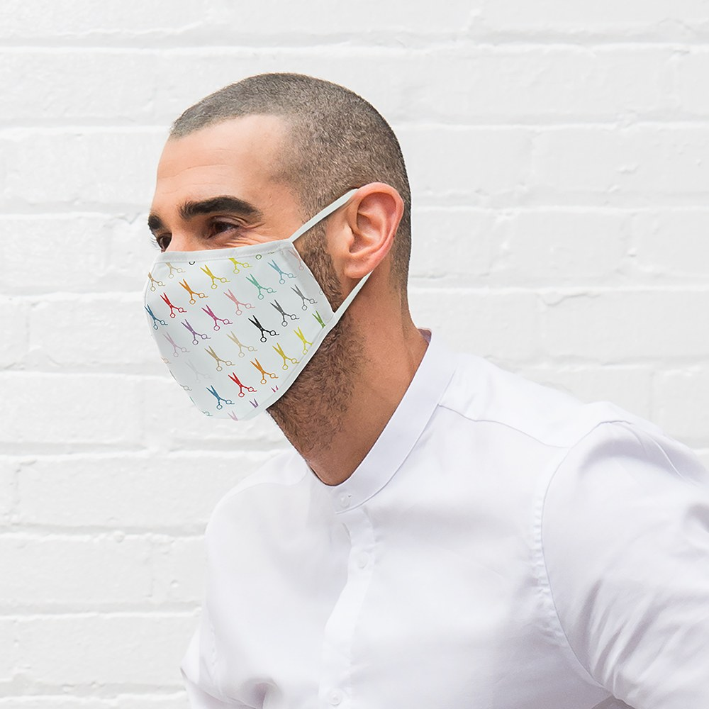 Adult Protective Cloth Face Mask - Scissors