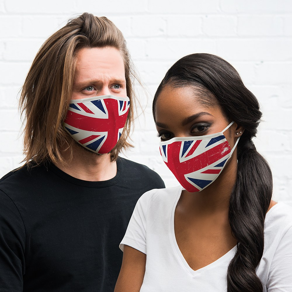 Adult Protective Cloth Face Mask - Great Britain