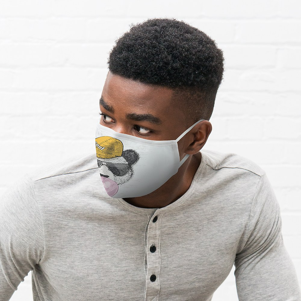 Adult Protective Cloth Face Mask - Hipster Panda