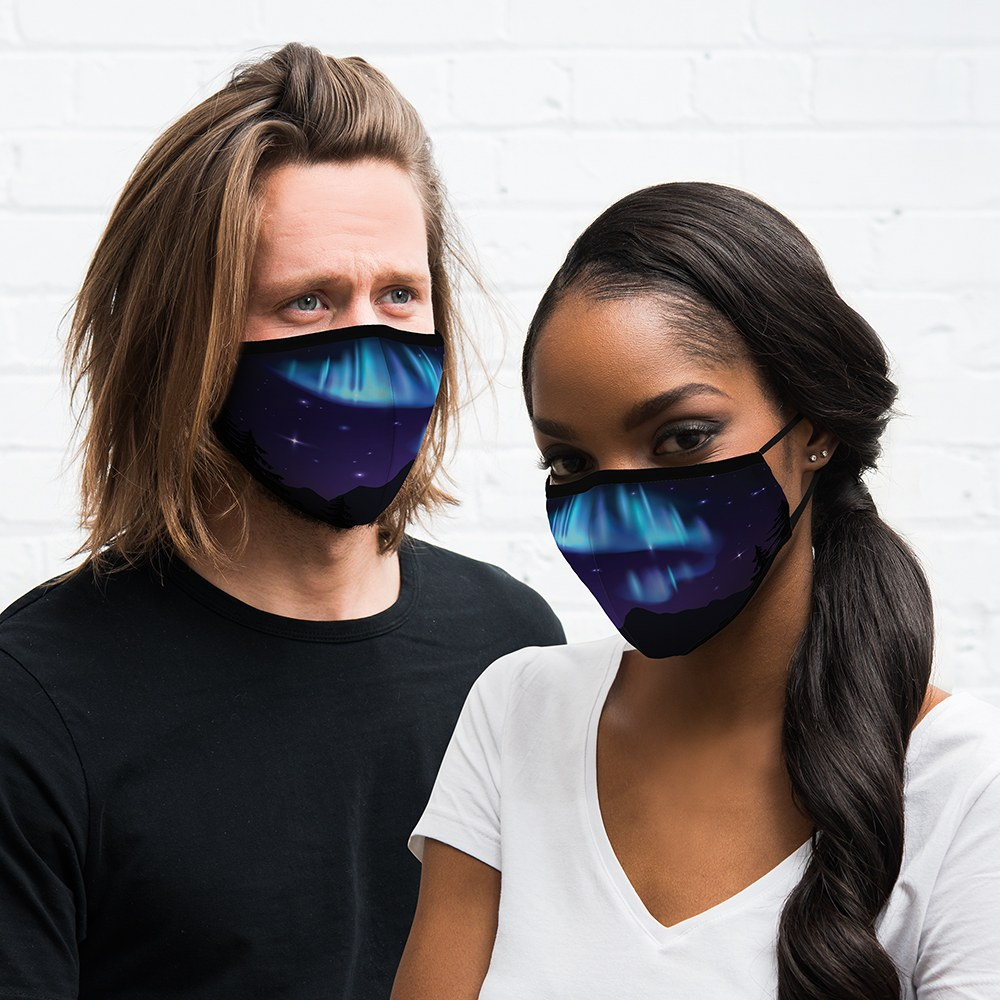 Adult Protective Cloth Face Mask - Northern Lights