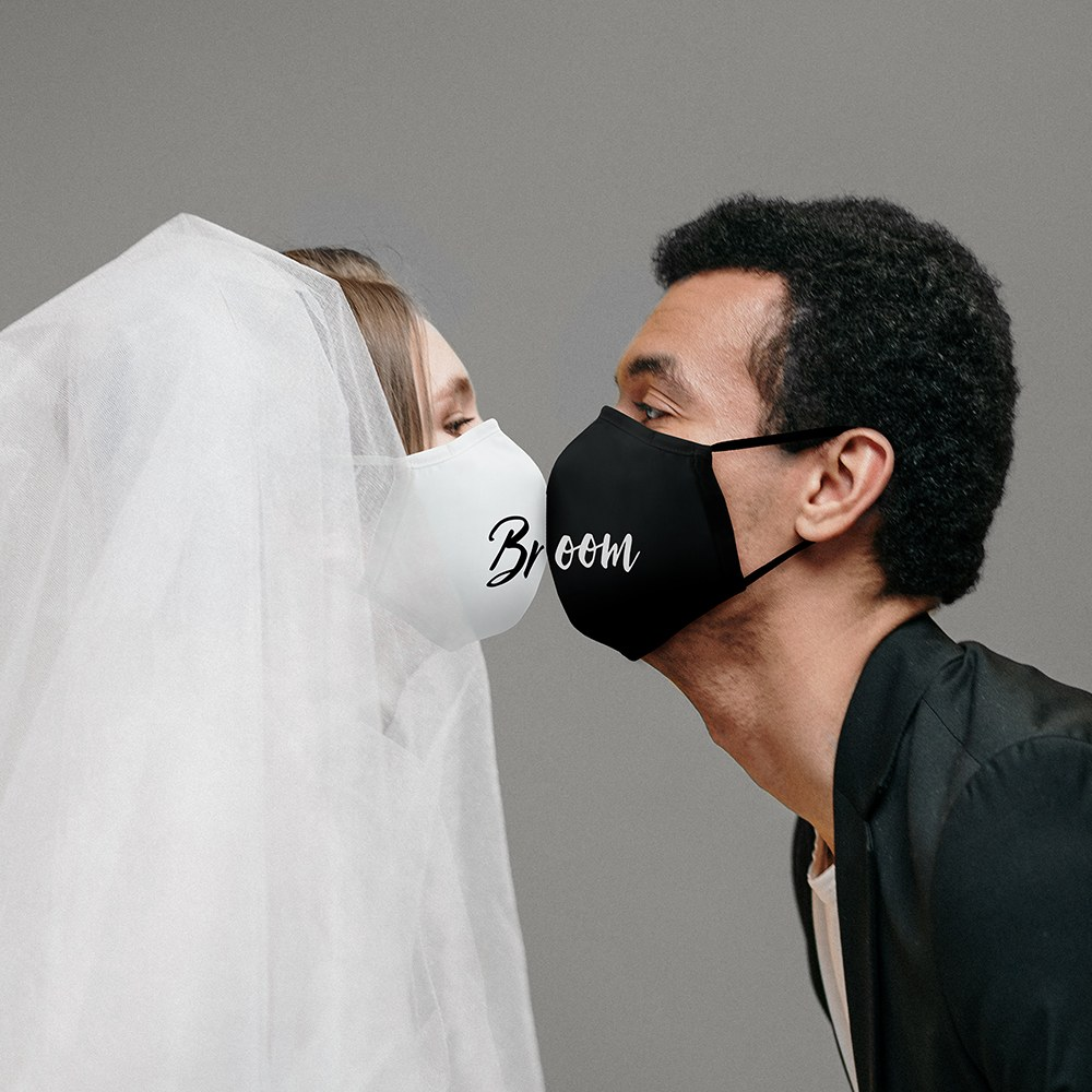 Adult Protective Cloth Face Mask - Bride