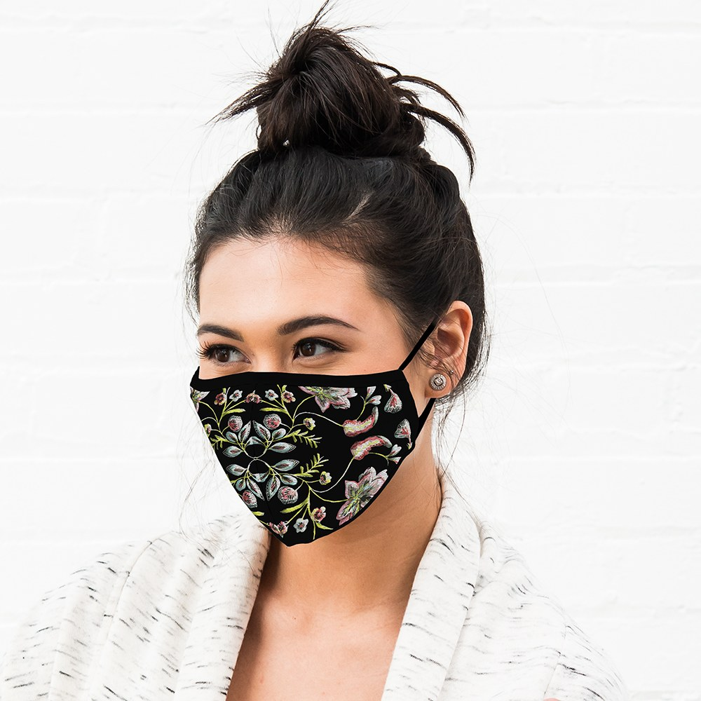 Adult Protective Cloth Face Mask - Vintage Floral