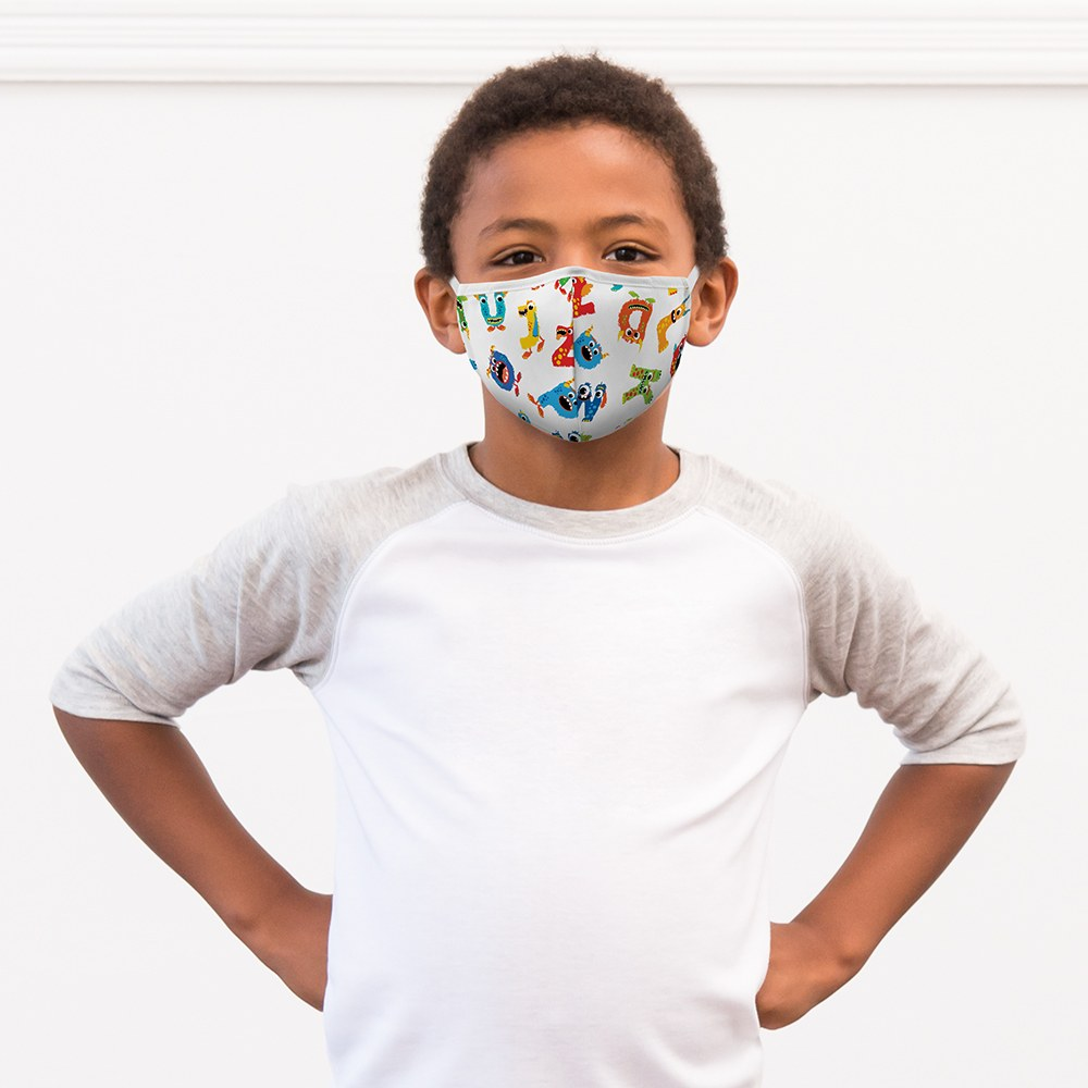 Kid's Protective Cloth Face Mask - Alphabet