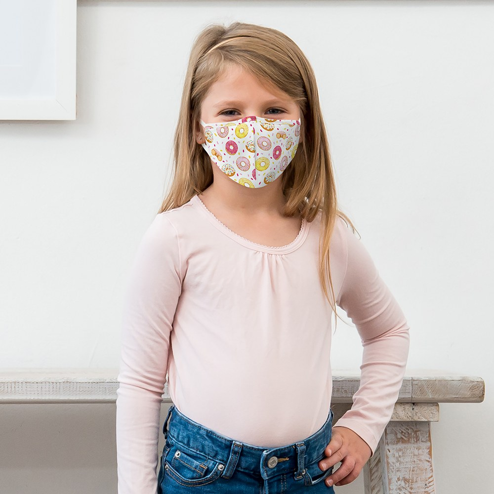 Kid's Protective Cloth Face Mask - Donut